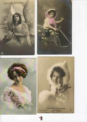 Продаются антикварные открытки с видами городов,  рождественскую тему