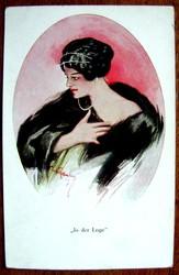 Редкая открытка.«Мечты».1902 год.