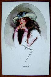 Редкая открытка.«Грезы». 1902 год.