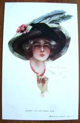 Редкая открытка.« Эти сладкие,  коралловые губы».1903 год.