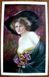 Редкая открытка.«Готова к проказам».1904 год.